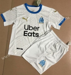 2020-2021 Olympique Marseille Home White Soccer Uniform-AY