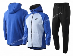 2020-2021 Nike Light Blue With multicolor Soccer Jacket Uniform With Hat -815