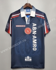 1997-1998 Retro Version Ajax Away Royal Blue Thailand Soccer Jersey AAA
