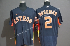 2020 Season MBL Astros Royal Blue #2 Jersey