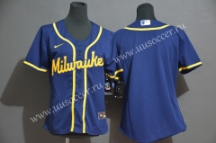 2020 New MLB  Milwauke Blue Jersey
