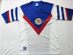 1987 Retro Version Club America Away White & Blue Thailand Soccer Jersey AAA-912