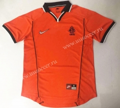 1998 Retro Version Netherlands Home Orange Thailand Soccer Jersey AAA-912
