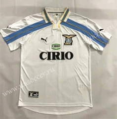 2000-2001 Retro Version SS Lazio Away White Thailand Soccer Jersey AAA-905