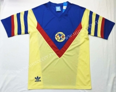 1987 Retro Version Club America Home Yellow Thailand Soccer Jersey AAA-912