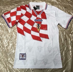 Retro Version 1998 Croatia World Cup Home Red & WhiteThailand Soccer Jersey AAA-503