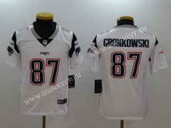 NFL New England (Pa)triots White #87 Jersey