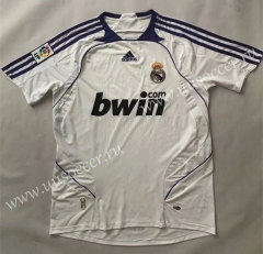 2007-2008 Retro Version Real Madrid White Thailand Soccer Jersey AAA