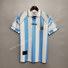 1997 Retro Version Argentina Home Blue and White Thailand Soccer Jersey AAA