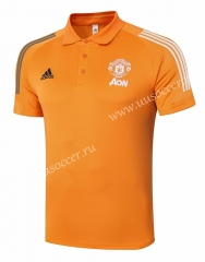 2020-2021 Manchester United Orange Thailand Polo -815