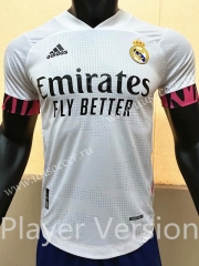 Player Version 2020-2021 Real Madrid Home White Thailand Soccer Jersey AAA