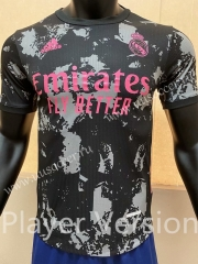 Player Version 2020-2021 Real Madrid 2nd Away Black Thailand Soccer Jersey AAA