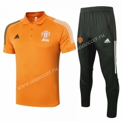 2020-2021 Manchester United Orange Thailand Polo Uniform-815
