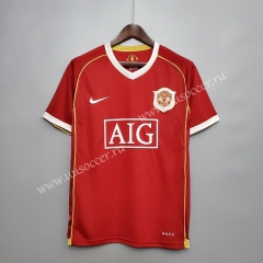 06-07 Retro Version Manchester United Home Red Thailand Soccer Jersey AAA