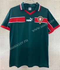 1998 Retro Version World Cup Morocco Home Green Thailand Soccer Jersey AAA-811