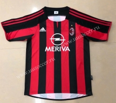 2003-2004 Retro Version AC Milan Home Red & Black Thailand Soccer Jersey AAA-HR