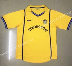 2000-2001 Retro Version Leeds United Home Yellow Thailand Soccer jersey AAA-HR