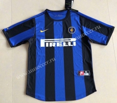 1999-2000 Retro Version Inter Milan Home Blue&Black Thailand Soccer Jersey AAA-HR