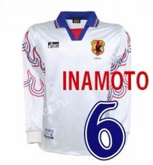 1996 Retro Version Japan Away White LS Thailand Soccer Jersey AAA