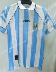 1996 Retro Version Argentina Home Blue and White Thailand Soccer Jersey AAA