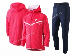 2020-2021 Nike Pink With Hat Soccer Jacket Uniform-815