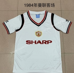 1984 Retro Version Manchester United Away White Thailand Soccer Jersey AAA-AY