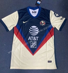 2020-2021 Club America Home Blue & Yellow Thailand Soccer Jersey AAA