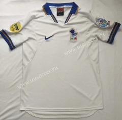 1996 Retro Version Italy Away White Thailand Soccer Jersey AAA-912