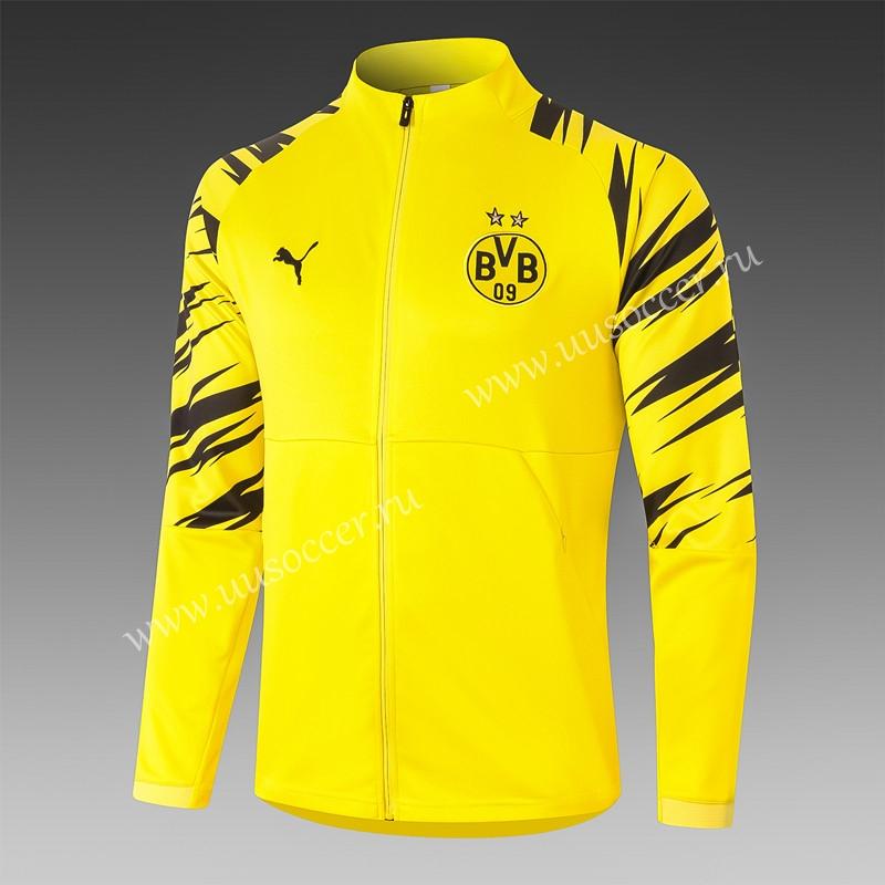 2020-2021 Borussia Dortmund Yellow Thailand Soccer Jacket Uniform ...