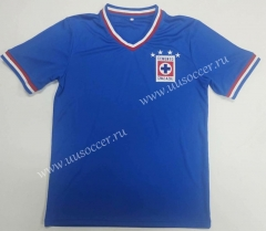 1974 Retro Version Cruz Azul Home Blue Turndown Thailand Soccer Jersey-912