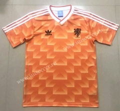 1988 Retro Version Netherlands Home Orange Thailand Soccer Jersey AAA-908
