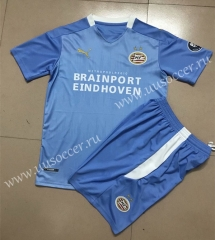 2020-2021 PSV Eindhoven Away Blue Soccer Uniform-AY