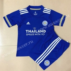 2020-2021 Leicester City Home Blue Soccer Uniform-AY