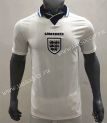 1996 Retro Version England Home White Thailand Soccer Jersey AAA-416