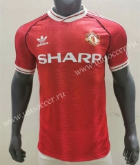 1990-1992 Retro Version Manchester United Home Red Thailand Soccer Jersey AAA-416