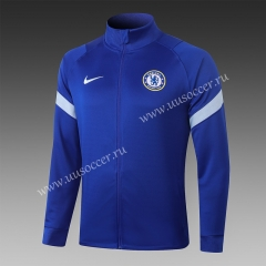 2020-2021 Chelsea Blue Soccer Thailand Jacket Top-815