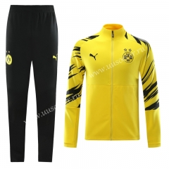 2020-2021 Borussia Dortmund Yellow Traning Soccer Jacket Uniform-LH