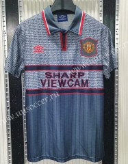 1995-1996  Retro Version Manchester United Away Gray Thailand Soccer Jersey AAA-C1046