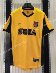 1999-2000 Retro Version Arsenal Away Yellow Thailand Soccer Jersey AAA-C1046
