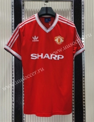 1984 Retro Version Manchester United Home Red Thailand Soccer Jersey AAA-C1046