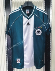 1998 Retro Version Germany Away White & Green Thailand Soccer Jersey-C1046