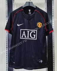 Retro Version Manchester United Away Black Thailand Soccer Jersey AAA-C1046