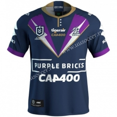 2021 Commemorative Edition Melbourne Roybal Blue Rugby Shirts