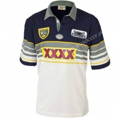 1995 Retro Version KunlunCowboy Black & White Thailand Rugby Shirt