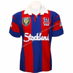 1997 Retro Version Knights Home Blue & Red Thailand Rugby Shirt