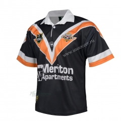1998 Retro Version Wests Tigers Away White Thailand Rugby Shirt