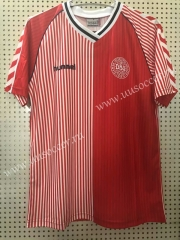 1986 Retro Version Denmark Home Red Thailand Soccer Jersey AAA-811