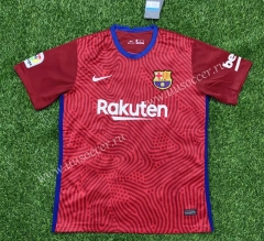 2020-2021 Barcelona Goalkeeper Red Thailand Soccer Jersey AAA-407