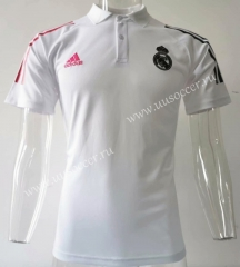 2020-2021 Real Madrid White Thailand Polo-SJ