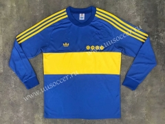 1981 Retro Version BOCA Juniors Home Blue LS Thailand Soccer Jersey AAA-SL